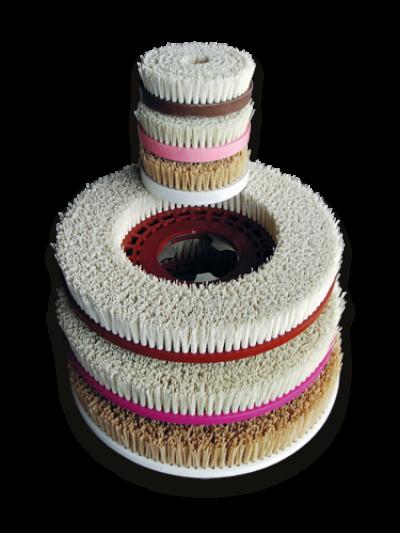 Finalit Porzellanbürsten für Handmaschine, 160 mm - Weichgesteine