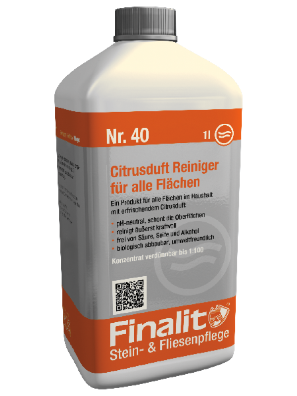 Finalit Nr. 40 Citrusduft Reiniger (pH-neutral)